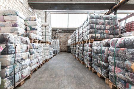 Lager mit Einwegputztüchern in Viersen