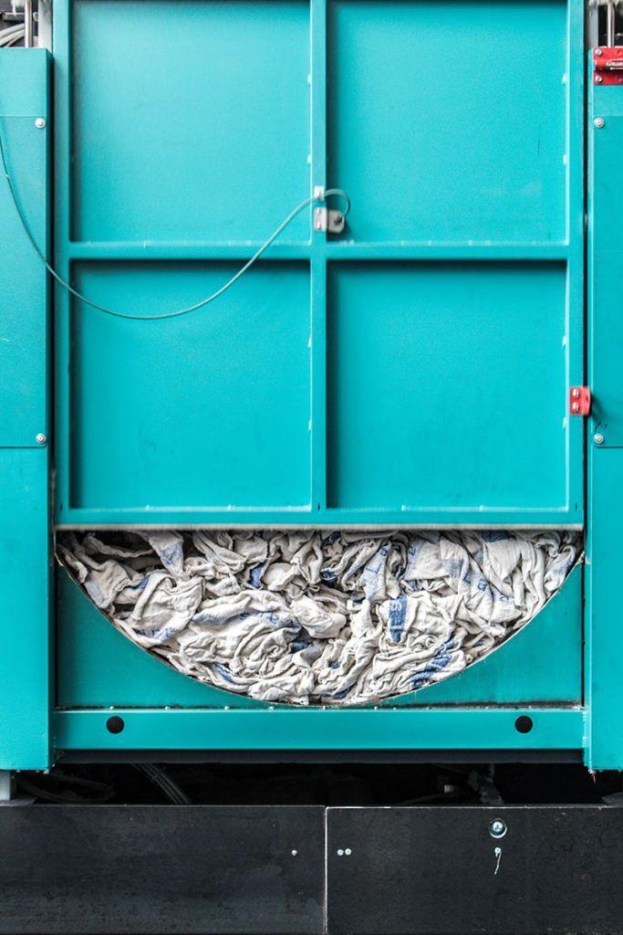 Trockner mit Putztüchern
