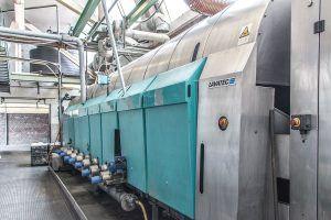 Große Industriewaschanlage für Putzlappen